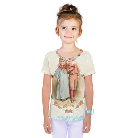 Kids Heart Kids  One Piece Tee by vintage2030