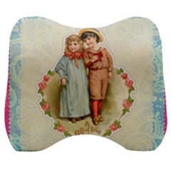 Kids Heart Velour Head Support Cushion by vintage2030