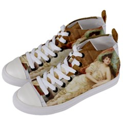 Vintage 1501595 1920 Women s Mid Top Canvas Sneakers by vintage2030