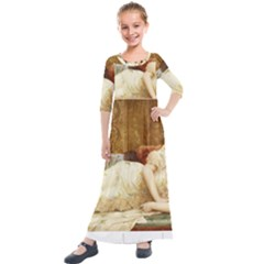 Vintage 1501595 1920 Kids  Quarter Sleeve Maxi Dress by vintage2030