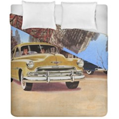 Retro Cars Duvet Cover Double Side (california King Size) by vintage2030