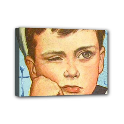 Retro Boy Mini Canvas 7  X 5  (stretched) by vintage2030