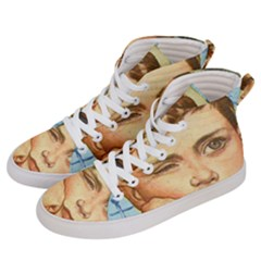 Retro Boy Men s Hi Top Skate Sneakers by vintage2030