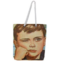 Retro Boy Full Print Rope Handle Tote (large) by vintage2030