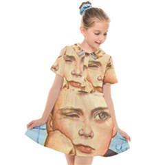 Retro Boy Kids  Short Sleeve Shirt Dress by vintage2030