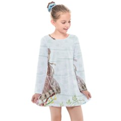 Background 1426677 1920 Kids  Long Sleeve Dress