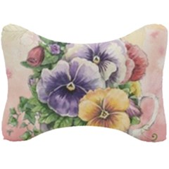 Lowers Pansy Seat Head Rest Cushion by vintage2030