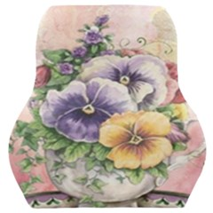 Lowers Pansy Car Seat Back Cushion  by vintage2030