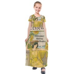 Vintage 1395176 1280 Kids  Short Sleeve Maxi Dress