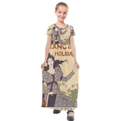 Vintage 1395178 1280 Kids  Short Sleeve Maxi Dress