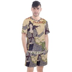 Vintage 1395178 1280 Men s Mesh Tee And Shorts Set