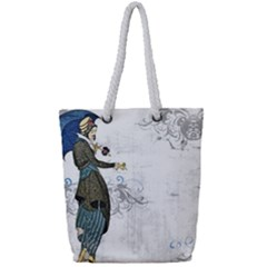 Vintage 1409215 1920 Full Print Rope Handle Tote (small)