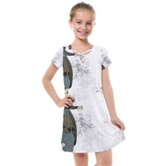 Vintage 1409215 1920 Kids  Cross Web Dress
