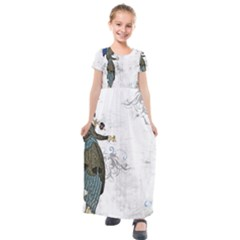 Vintage 1409215 1920 Kids  Short Sleeve Maxi Dress