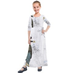 Vintage 1409215 1920 Kids  Quarter Sleeve Maxi Dress