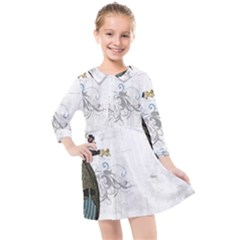 Vintage 1409215 1920 Kids  Quarter Sleeve Shirt Dress