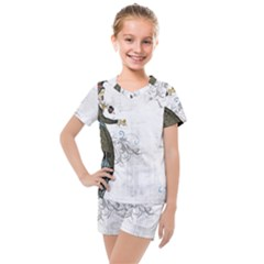Vintage 1409215 1920 Kids  Mesh Tee And Shorts Set