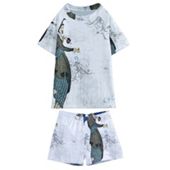 Vintage 1409215 1920 Kids  Swim Tee And Shorts Set