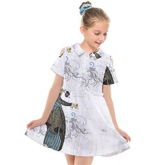 Vintage 1409215 1920 Kids  Short Sleeve Shirt Dress