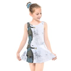 Vintage 1409215 1920 Kids  Skater Dress Swimsuit
