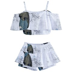 Vintage 1409215 1920 Kids  Off Shoulder Skirt Bikini