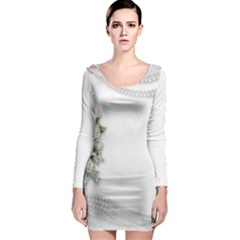 Background 1362160 1920 Long Sleeve Bodycon Dress