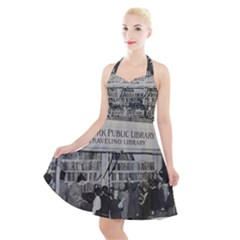 Vintage 1326261 1920 Halter Party Swing Dress