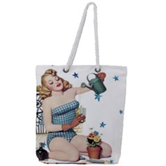 Retro 1265769 1920 Full Print Rope Handle Tote (large) by vintage2030
