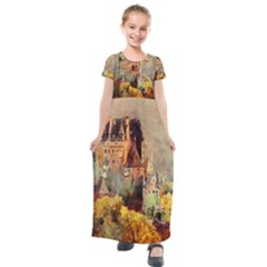 Painting 1241680 1920 Kids  Short Sleeve Maxi Dress by vintage2030