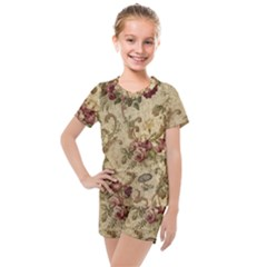 Background 1241691 1920 Kids  Mesh Tee And Shorts Set by vintage2030