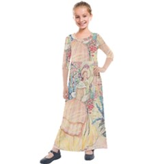 Vintage 1203864 1280 Kids  Quarter Sleeve Maxi Dress by vintage2030