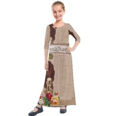 Vintage 1181679 1280 Kids  Quarter Sleeve Maxi Dress