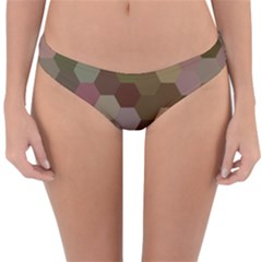 Brown Background Layout Polygon Reversible Hipster Bikini Bottoms