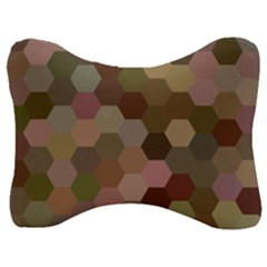 Brown Background Layout Polygon Velour Seat Head Rest Cushion