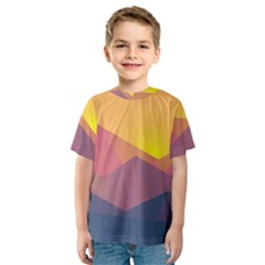 Image Sunset Landscape Graphics Kids  Sport Mesh Tee by Sapixe