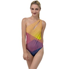 Image Sunset Landscape Graphics To One Side Swimsuit