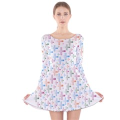 Heart Colorful Transparent Religion Long Sleeve Velvet Skater Dress