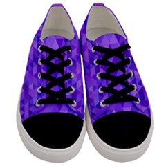 Purple Triangle Purple Background Men s Low Top Canvas Sneakers