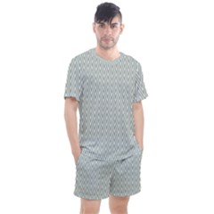 Vintage Pattern Chevron Men s Mesh Tee And Shorts Set