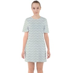 Vintage Pattern Chevron Sixties Short Sleeve Mini Dress