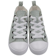 Vintage Pattern Chevron Kid s Mid Top Canvas Sneakers