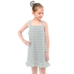 Vintage Pattern Chevron Kids  Overall Dress