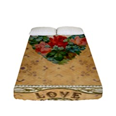 Valentine 1171144 1920 Fitted Sheet (full/ Double Size) by vintage2030