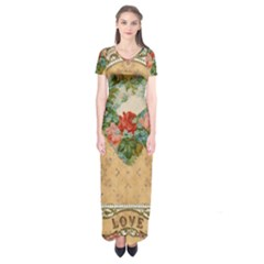 Valentine 1171144 1920 Short Sleeve Maxi Dress by vintage2030