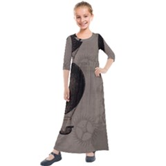 Vintage 1143341 1920 Kids  Quarter Sleeve Maxi Dress by vintage2030