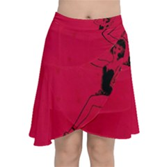Vintage 1143360 1920 Chiffon Wrap Front Skirt