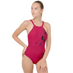 Vintage 1143360 1920 High Neck One Piece Swimsuit