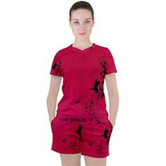 Vintage 1143360 1920 Women s Tee And Shorts Set by vintage2030