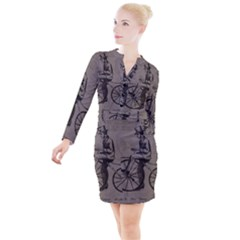 Vintage 1143342 1920 Button Long Sleeve Dress