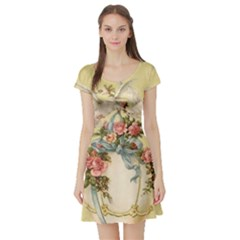Easter 1225798 1280 Short Sleeve Skater Dress